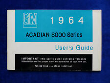 GM 1964 Acadian 8000 Series - US-Betriebsanleitung / User's Guide Canada USA