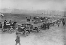 Automobiles Requisitioned for War effort in Russia 8x10 World War I WW1 Photo