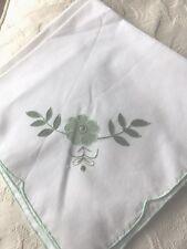 """TOVAGLIOLI X 4 in (ca. 10.16 cm) Verde Con Flower Design e Verde Bordo a circa 17 x 17"""""""