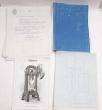 1918 Lamson Goodnow Taylor Machinery Boston MA Blueprints Notes Ephemera - L86G