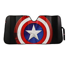 Marvels Captain America Car Truck Front Windshield Accordion Folding Sun Shade