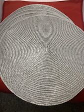 New listing Round Placemat In Silver (set of 4)
