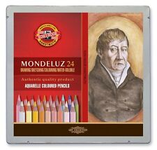 Pack of 24 Koh-I-Noor Mondeluz Hexagonal Water Coloured Pencils Portrait