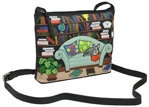 Mala Leather Beau's Library Collection Small Leather Shoulder Bag 7186_89