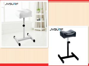Pedicure Manicure Tattoo Adjustable Stool Station Chair White Black PU Leather