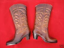 Vintage 1960s Winter Fleece Rain Rubber Western Cowgirl Boots Heels Rockabilly 5