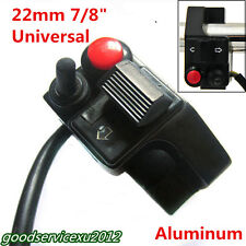 "Aluminum 7/8"" 22mm Motorbike Handlebar Push Button Horn Turn Signal Light Switch"
