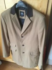 Stanley Adams Mens Crombie Coat Camel And Brown Collar  Small Good Condition