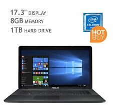 ASUS 17,3 pollici notebook laptop Intel 8GB RAM 1TB HDD DVD WIN 10 NUOVISSIMO