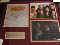 Jerry Seinfeld Signed Photo Julia Louis-Dreyfus Jason Alexander Seinfeld JSA PSA
