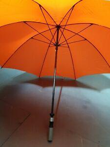Large Umbrella Ladies High Visual Walking Rain Brolly Orange