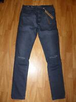 Neue Ringspun Herren Jeans Apollo Stretch Gr W32/L32 Schmal Geschnitten Grau