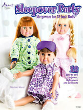 """Sleepover Party Pajamas 18"""" Dolls Sewing Instruction Pattern Book Annie's NEW"""