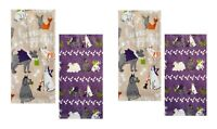 Celebrate Halloween Together Kitchen Dish Towels BONE APPETIT 4-Piece Set NEW