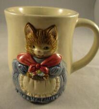 Otagiri Handpainted Coffee/Tea Mug Cup - Japan Embossed  - Cute Cat