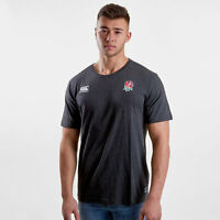 Canterbury Mens England RFU Cotton Rugby T-Shirt Sports Top Tee Black