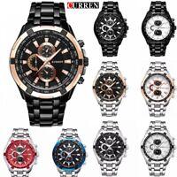 Men Boy Stainless Steel Analog Date Quartz Wrist Watch Business Classic Watches