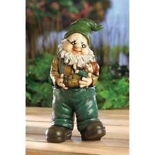 Grandpa & baby Dad father son Gnome Garden Statue outdoor lawn Yard Art gift