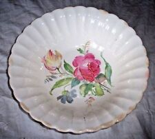 SEBRING LIMOGES SHARON WHITE MULTI COLOR FLORAL BOWL  71TC Nl LOVELY VINTAGE