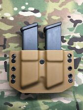 Coyote Tan Kydex Dual Magazine Carrier for Glock 9mm .40 .357
