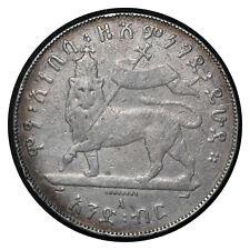 1 Birr 1895 A Ethiopia Silver Coin // Menelik II / Rasta Lion  I # 5  From 1$