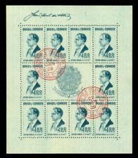 BRAZIL 1938  Pres. VARGAS  BLOCK S/S  Scott # 466  used VF