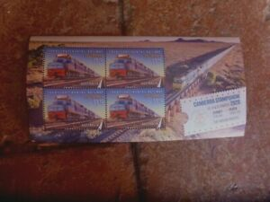 CANBERRA STAMPSHOW  2020  MINIATURE SHEET TRAIN STAMPS MUH 13 MARCH
