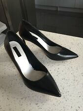 Women's TOPSHOP Black High Heel Court Shoes Size UK 6 39 EXC