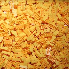 Brix Bulk Lot Sold by the Pound YELLOW Colored 2x4 Stud Building Bricks ONLY