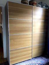 Ikea Pax Kleiderschrank, Holz, Schiebetüren, Fächer, Schubladen, Kleiderstangen