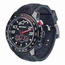 Alpinestars Tech Watch Chrono Black Black/Black Silicone Strap Miyota NEW