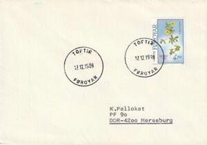 FRB_327 Nr. 164 auf Brief aus Toftir von 1988 - Blutwurz - Blumen