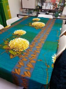 Vintage 1970s Synthetic Bold Floral Curtain Panel Fabric single