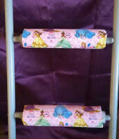 DISNEY PRINCESSES  Padded BunkBed Ladder Rung Covers *No-Tool Install* Safe