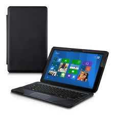 SYNTHETIC LEATHER CASE FOR ASUS TRANSFORMER BOOK T300 CHI BLACK COVER WITH STAND