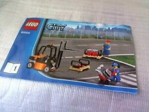 LEGO CITY 60020 Cargo Truck Instruction Manual Booklet 1  (No Bricks included)