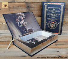 Hollow Book Safe - The Constitution of the United States Leather Bound Book Safe