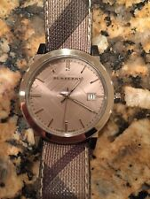 Swiss Made Burberry Women's Check Fabric Band Watch