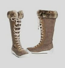 MARC JACOBS Made in Italy suede and fur boots stivali camoscio pelliccia 38 BNIB