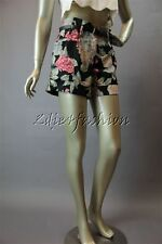 New with Tags MINK PINK Black White Floral Silky Polyester Belt Shorts Large