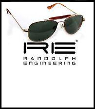 RANDOLPH OCCHIALI DA SOLE mod:SPORTSMAN 52 GOLD lente GRIGIO/VERDE AGX CRIST