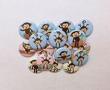 "20 cute monkey 1"" flat back Buttons."