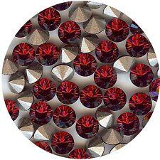 1028 SS29 RU *** 12 Strass Swarovski fond conique 6mm RUBY F