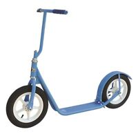"12"" CHILDREN'S SCOOTER - LIGHT BLUE - Child Kick Foot Bike w/ Basket & Brake"