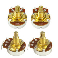 NEW Golden 2 A250k & 2 B250k Electric Guitar Pots Potentiometers Long Shaft Pots