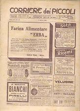 CORRIERE DEI PICCOLI 7 APRILE 1912 anno IV NUMERO 14 CON SOVRACOPERTINA SPEDITO