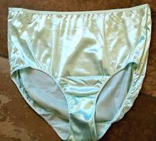 HANES 9/2XL  Mint Green SILKY Second Skin SATIN Stretch Hi Cut Brief Panties NEW