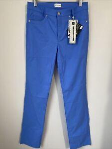 NWT Golfino Ladies Techno Stretch Trousers 4269722 535 Blue Sz 8 12 NEW