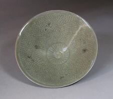A Very Rare/Rare Korean Celadon Inlaid Conical Formed Bowl-12th C
