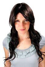 Perruque brun avec FORMIDABLE Raie et léger ondulé cheveu marron 9320-4 60 cm
